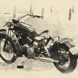 過去に作ったカスタムバイク YAMAHA XV250 virago ビラーゴ