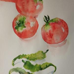 青臭いトマト