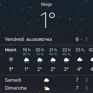 パリにも雪マーク。