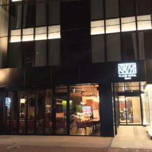 「プレイスホテルアスコット」熊本下通アーケード近く、開放感ある寝室