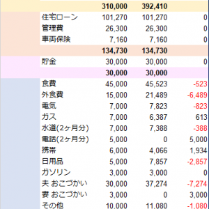 家計簿まとめ(2020年2月19日)