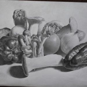 野菜を描きました