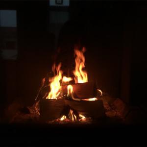 暖炉と家族