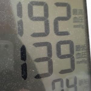 おっさんの今朝の血圧と朝飯
