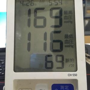 今朝の血圧と朝ラー