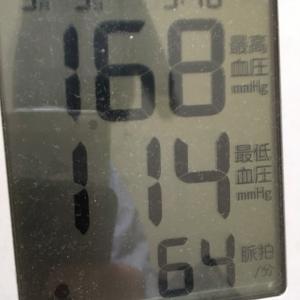 今朝の血圧と勉強