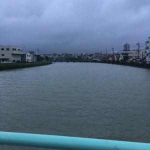 巴川も増水だぁ