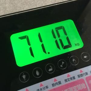 おっさんの日曜日の朝飯と体重と血圧