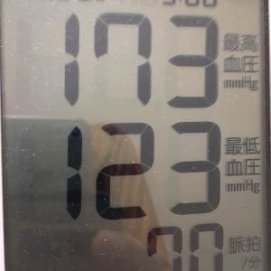 休日出勤のおっさんの今朝の血圧