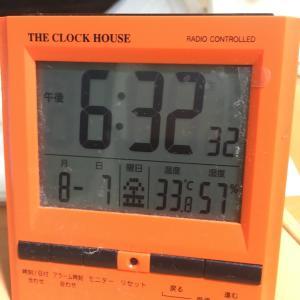暑い!!室温33.8℃のおっさんの独り晩飯
