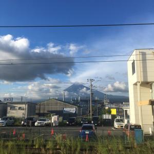 夕方の富士山と今日の歩数とか