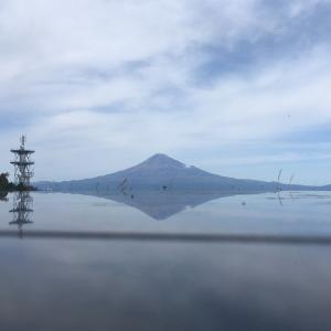 浜石岳で逆さ富士