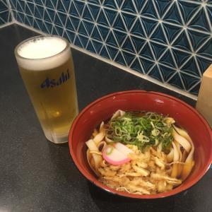 【豊橋駅うどん】壺屋できしめんとビールで800円也