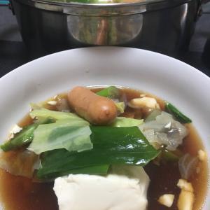 おっさんの独り晩飯 ごちゃごちゃ鍋2日目
