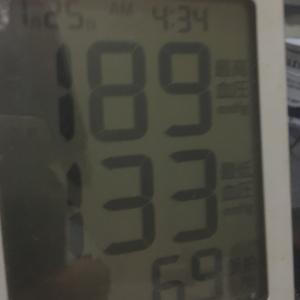 今朝の血圧と今朝の富士山