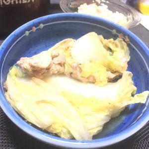 おっさんの独り晩飯 白菜ミルフィーユ鍋