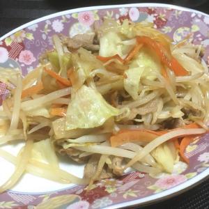 おっさんの独り晩飯 肉野菜炒め
