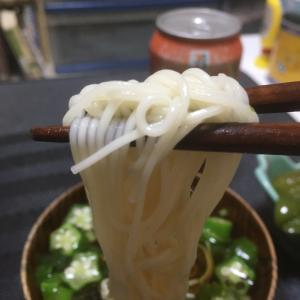 おっさんの独り晩飯 素麺