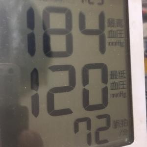 今朝の血圧