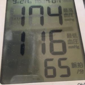 今朝の血圧とか元女房殿との会話とか