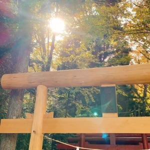 新屋山神社&奥宮はすごいパワーです(〃▽〃)✩.*˚