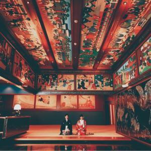 【ホテル雅叙園東京のプレ花嫁】和室玄関で和装前撮り