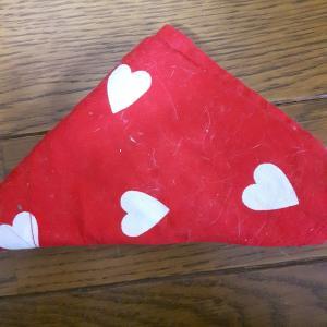 母の手作り三角頭巾