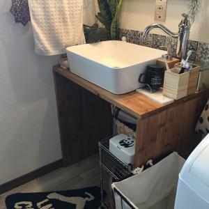 洗面台をプチ改造 収納スペースを増やした