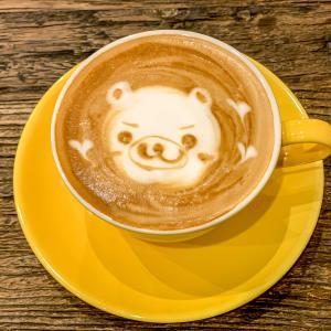 行きたかったcafe Moreで、くまさんのラテアート