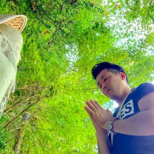 夏の終わりに出会えた破磐神社の龍神様🐉⛩