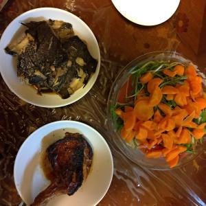 カレイの煮付けを作ってみた、もうちょい煮込んだほうが美味しかったかも...?