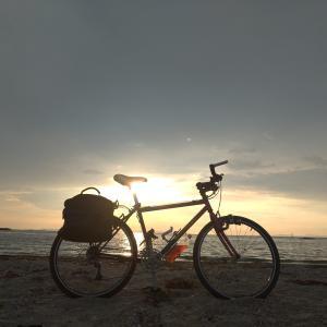 ライザーバーに交換したニシキ エボリューション EGで二色浜に行ったり、泉佐野に行ったり...。