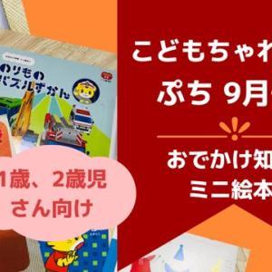こどもちゃれんじ ぷち9月号【教材レビュー】おでかけ知育ミニ絵本