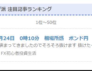 【報告】【ブログ】【取引外】ブログのランキングで1位になってましたw