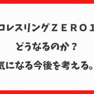 【プロレス】ZERO1はどうなってしまうのか?気になる今後を考えてみる。