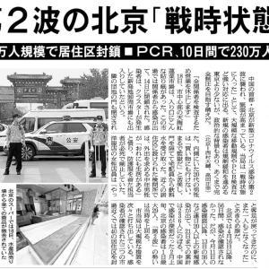第2波の北京 「戦時状態」