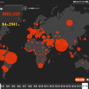 新型コロナ、世界の感染者数3000万人超 インド、欧州で増加傾向