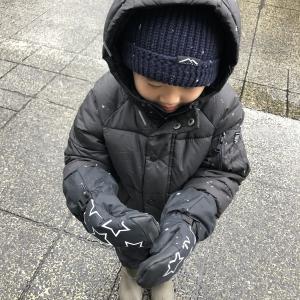 雪でも元気☃️長男はお手伝いしたいお年頃