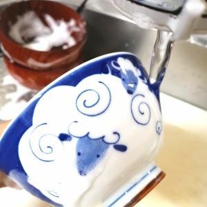 食洗器無し家庭の食器洗い事情**20分