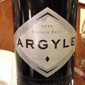 飲んだワイン アーガイル・ワイナリー/ヴィンテージ・ブリュット2010 6点