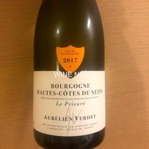 飲んだワイン オーレリアン・ヴェルデ/ブルゴーニュ オート・コート・ド・ニュイ ル・プリュール ブラン2017 8点