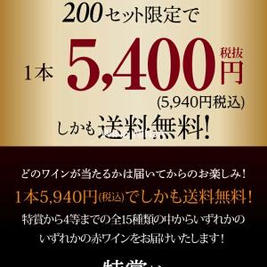雑記 福袋 カーヴ・ド・エル・ナオタカ(CAVE de L NAOTAKA) 憧れの赤ワインを探せ! 赤ワインくじ 第31弾