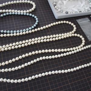 パールのネックレス糸替えと金具交換