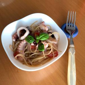 夫ご飯🍴 たこパスタ ランチ