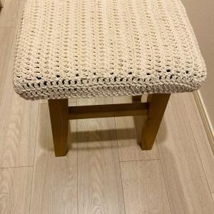 椅子カバー✨ 編み物しました🤗