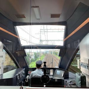 近鉄名古屋線から大阪線への中川連絡線を通る様子