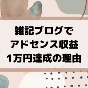 雑記ブログでアドセンス収益が月1万円達成の裏側