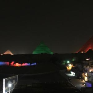 【エジプト編③】無料で観られる?ピラミッドの音と光のショーについて