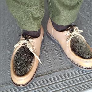 Paraboot ミカエルフォック、アッパーの傷の修復【shoes(革靴)】