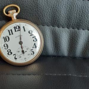 懐中時計が増えました。Illinois(イリノイ)のアンティーク。